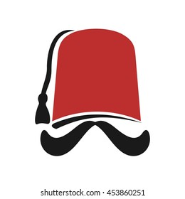 fez logo vector. turkish hat logo.
