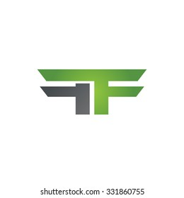 FF company linked letter logo green