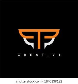 FF Letter Initial Logo Design Template Vector Illustration