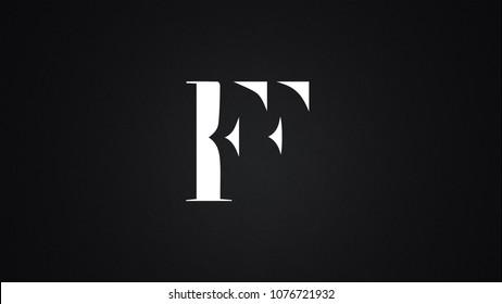 FF Letter Logo Design Template Vector