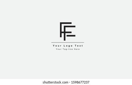FF or FF letter logo. Unique attractive creative modern initial FF FF F F initial based letter icon logo