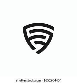 FF letter logo vector shield