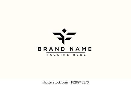 FF Logo Design Template Vector Graphic Branding Element.