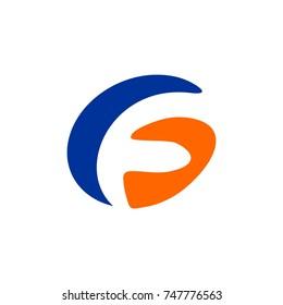 FG or GF logo initial letter design template vector