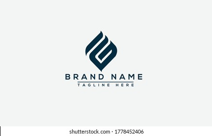 FG Logo Design Template Vector Graphic Branding Element.
