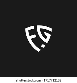 FG monogram logo with shield shape design template