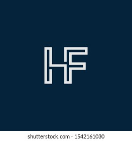 FH or HF font designs for logo and icons