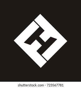 FH or HF letter logo design template vector