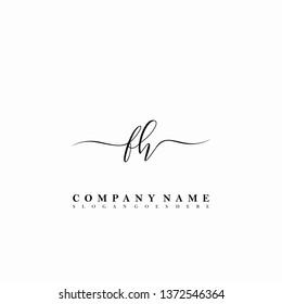 FH Initial luxury handwriting logo vector