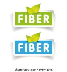 Fiber label vector set