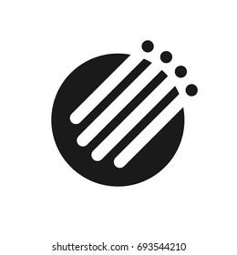 fiber optic cable vector logo.