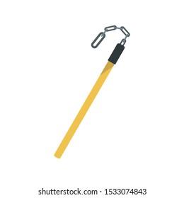 Fiberglass stick icon. Flat illustration of fiberglass stick vector icon for web design