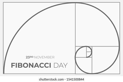 Fibonacci Day Background Illustration Vector