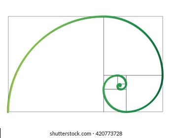The Fibonacci spiral. Vector EPS 10