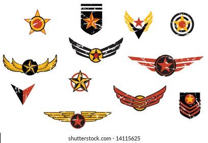 Fictional military emblems logos