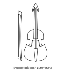 fiddle musical instrument icon