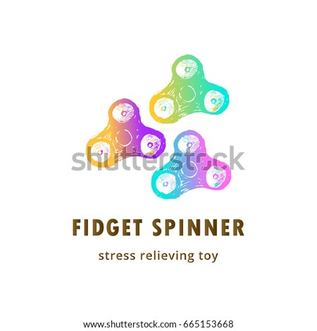 fidget spinner card template stress relieving stock vector royalty
