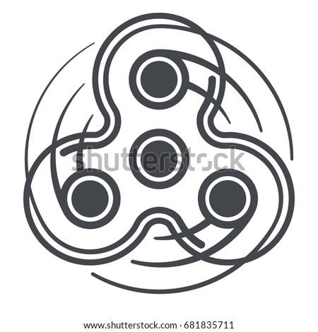 fidget spinner icon hand fidget spinner stock vector royalty free