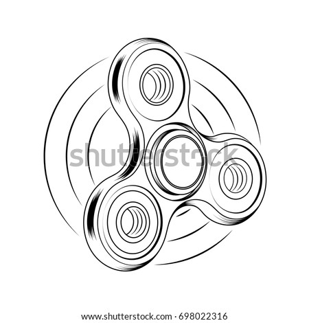 fidget spinner icon toy stress relief stock vector royalty free