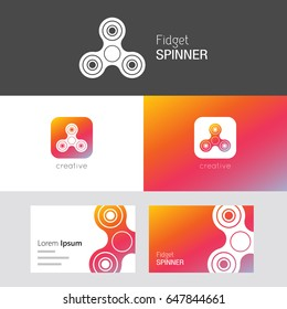 Fidget Spinner vector set. Useful as branding logo, app icon and business card. Compatible with PNG, JPG, CDR, PDF, SVG, AI and EPS.