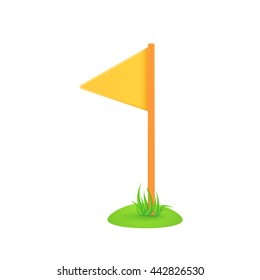 Field corner flag. Soccer equipment symbol. Vector illustration easy to edit.