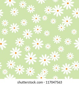 field of daisies. seamless pattern. eps 8