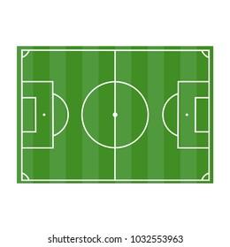 Field of football stadium. Football stadium view from above. Vector illustration.
