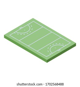 Field hockey area icon. Isometric of field hockey area vector icon for web design isolated on white background