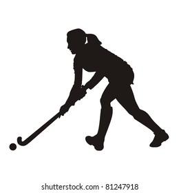 Field Hockey player silhouette