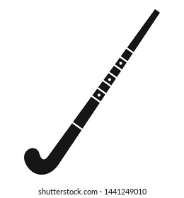 Field hockey stick icon. Simple illustration of field hockey stick vector icon for web design isolated on white background