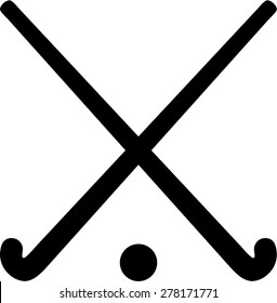 Field Hockey Sticks with ball