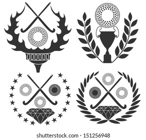 Field hockey. Vector illustration