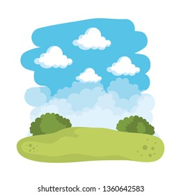 field landscape scene icons