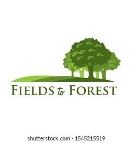 Fields to forest logo, Tree logo