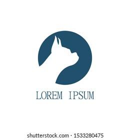 fierce dog logo. canine dog logo.boxer dog face logo