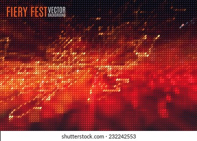 fiery festival vector background with blurred lights