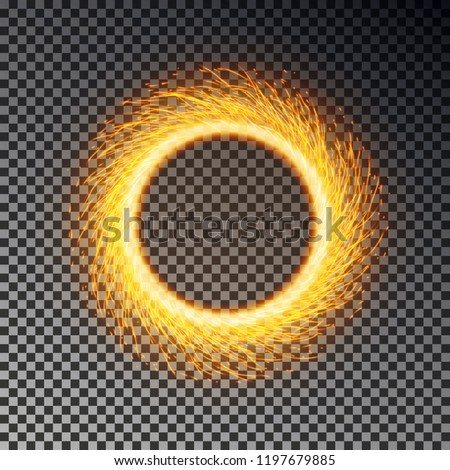 Fiery sparks circle effect