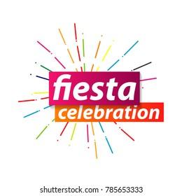 Fiesta Celebration Logo Vector Template Design