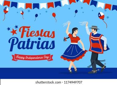 Fiestas Patrias - celebración del Día de la Independencia de Chile frase española.