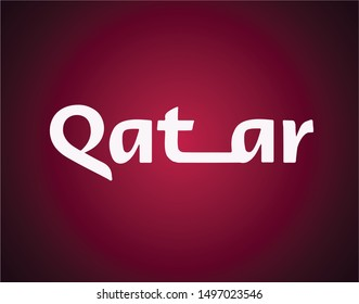 Fifa world cup first nation Middle East Qatar 2022 logo vector template