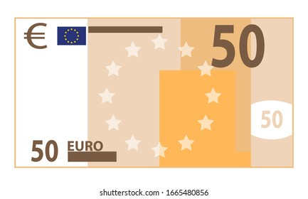 fifty euro bill vector graphic
