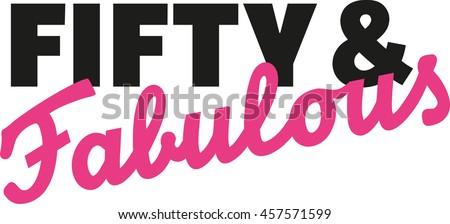 Fifty Fabulous 50th Birthday Stock Vektorgrafik Lizenzfrei
