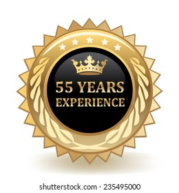 Fifty Five Years Experience Badge