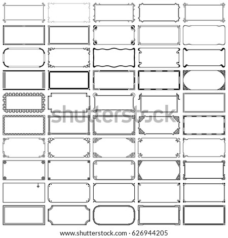 Fifty Rectangle Frames Set 4 Stock Vector Royalty Free 626944205