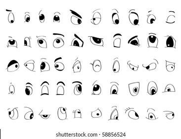 Man Eyes Draw Stock Vectors Images Vector Art Shutterstock