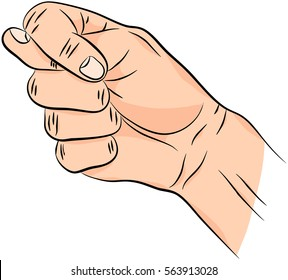 Fig sign. Man hand isolated on white background