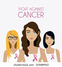 Fight against breast cancer campaign design, vector illustration eps10