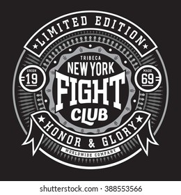 Fight boxing  sport typography, t-shirt graphics, vectors