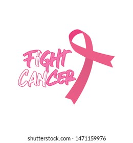 Fight Cancer Breast Cancer Awareness design for t shirt - Vector
