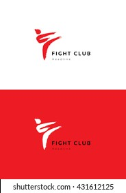 Fight club logo template.